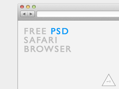 Safari Browser Mock-Up PSD