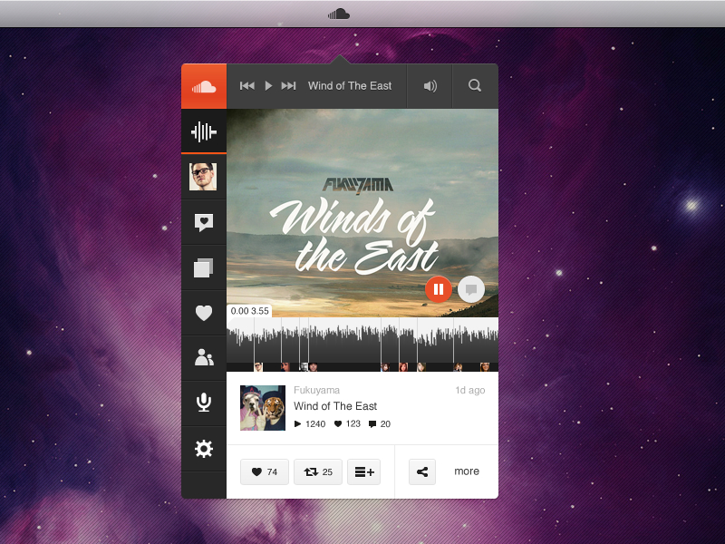SoundCloud Player App - Music Played