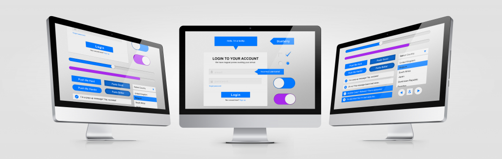 UI Kit PSD-Login Form-Sliders-Buttons