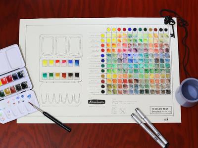 Color Test PSD Template