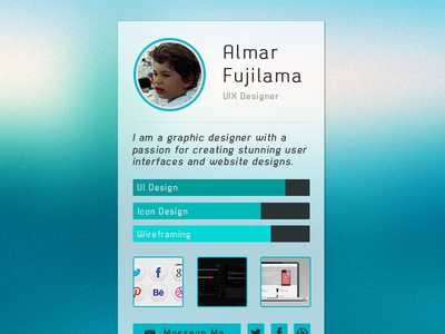 Designer Profile Widget
