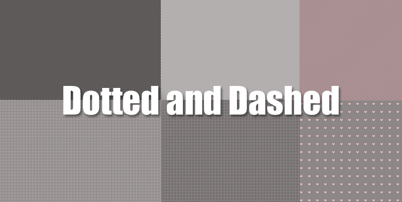 Dotted and Dashed Patterns Photoshop