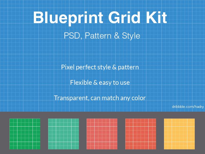 Free Blueprint Grid PSD Pattern Style