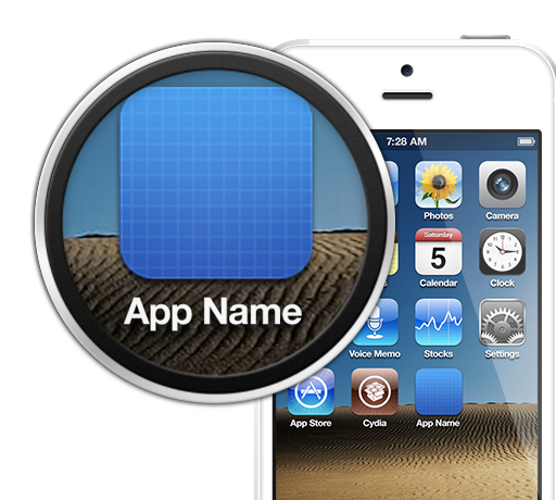 Free Customizable iPhone 5 icon export template