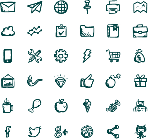 Free Hand-drawn Vector PSD Icons