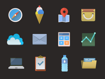 Free Icons PSD(12 icons)