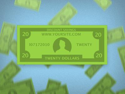 Free Money Template PSD