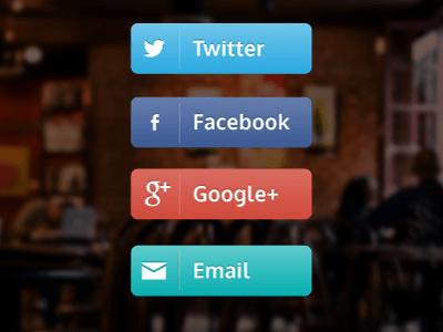 Free Social Buttons Vector ai