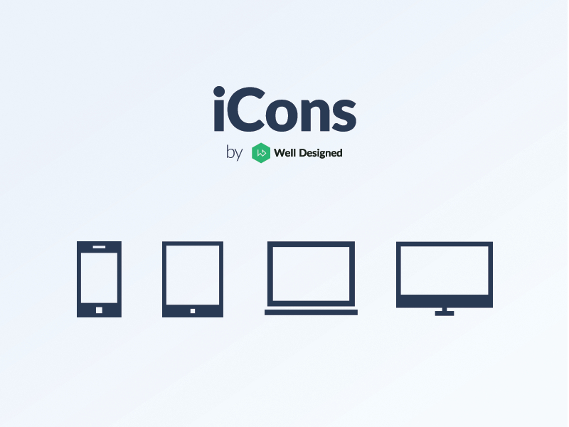 Free Vector Apple devices icons (AI EPS)