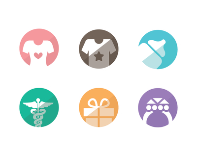 Free Vector Category Icon Set
