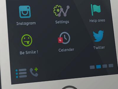 Freebie iOS 7 Home Screen PSD