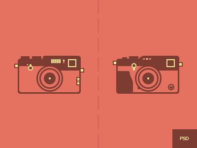 Fujifilm Cameras-Flat Style