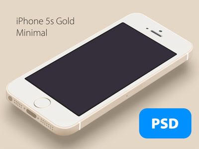 Gold iPhone 5S Template PSD