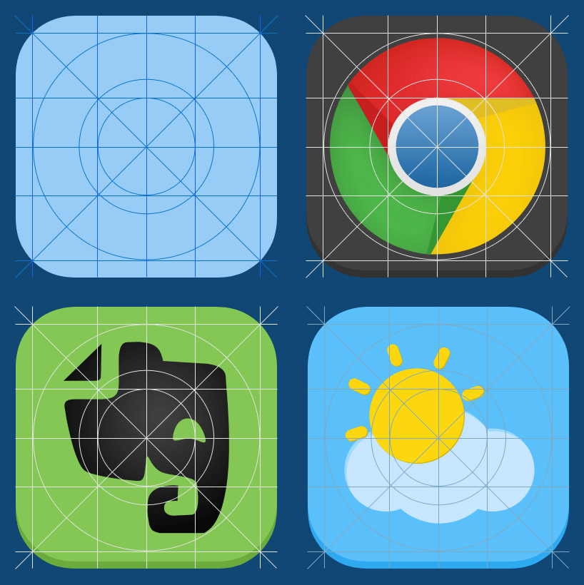 IOS 7 Guides Grid For APP Icons