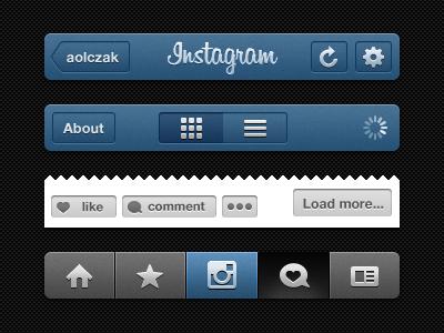 Instagram iPhone UI PSD