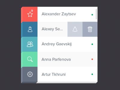 PSD-Contact Widget For APP