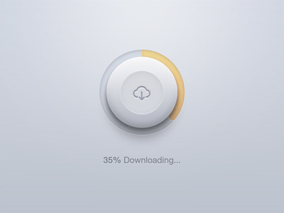 PSD - Round Download Button Photoshop