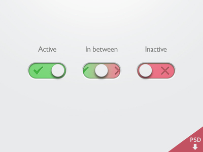 PSD-Simple On Off Button