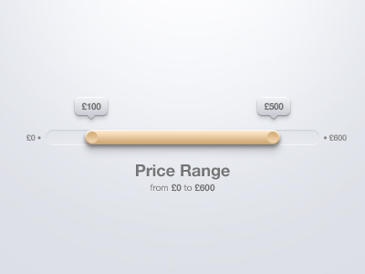 Price Range Slider PSD