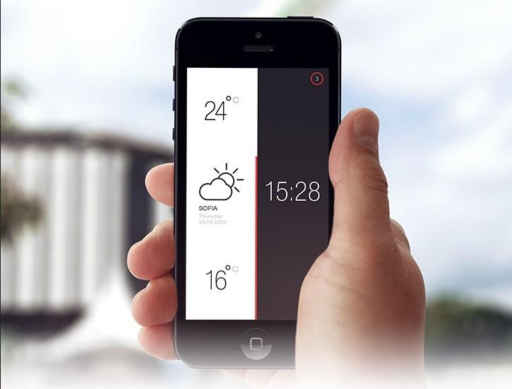 Weather Time PSD-APP UI Design