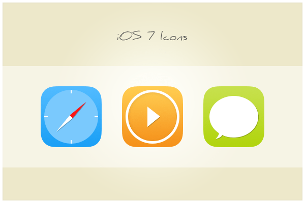 iOS 7 Icons PSD-Clock Player Chat