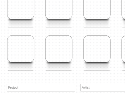 iOS iPhone icon Wireframe Sketch Template