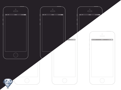 iPhone 5s sketch wireframe template
