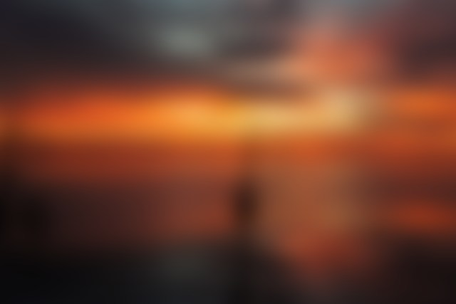 sunset blurred backgrounds