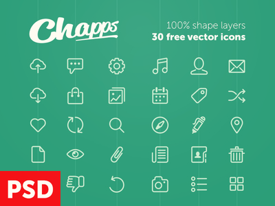 30 Free Vector Icons PSD