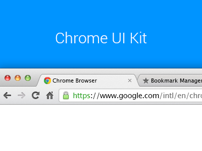 Browser Template Chrome UI Kit