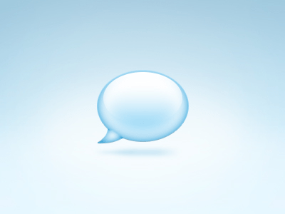Free Chat Bubble Icon PSD