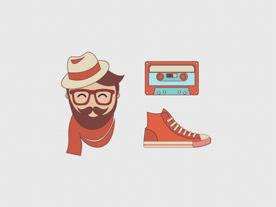 Free Hipster Vector Pack
