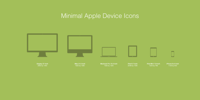 Macbook iPhone iPad - Apple Device Icons Vector