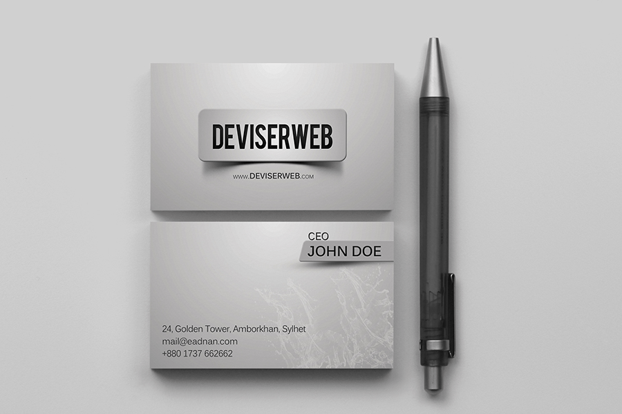 Premium Business Card Design Template PSD