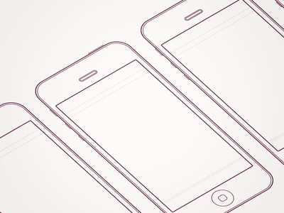 Sketch Sheet PDF- iPhone Wireframe Template Mockup