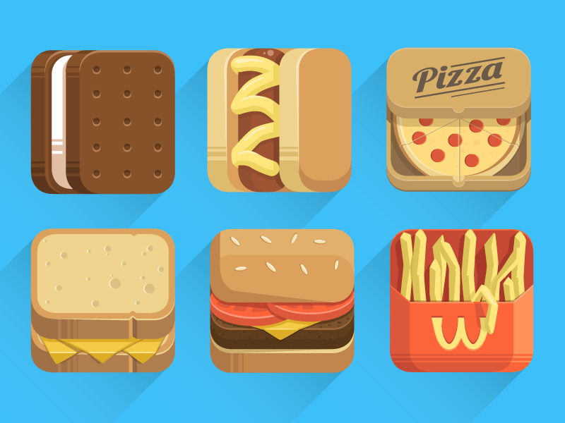 Vector Food Icons-illustrator ai file