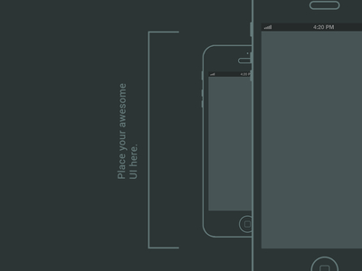 iPhone Wireframe PSD