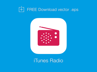 iTunes Radio Logo Vector EPS