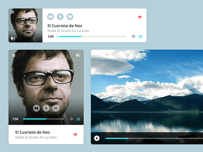 Multimedia Audio Video Player PSD Freebie