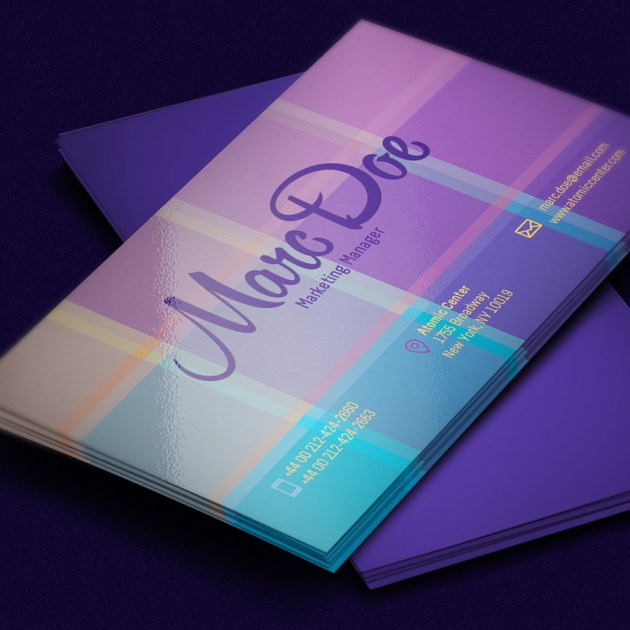 Free Business Card Template PSD For Print -6