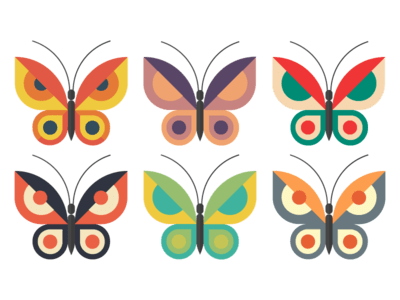 Free Butterflies Vector Download