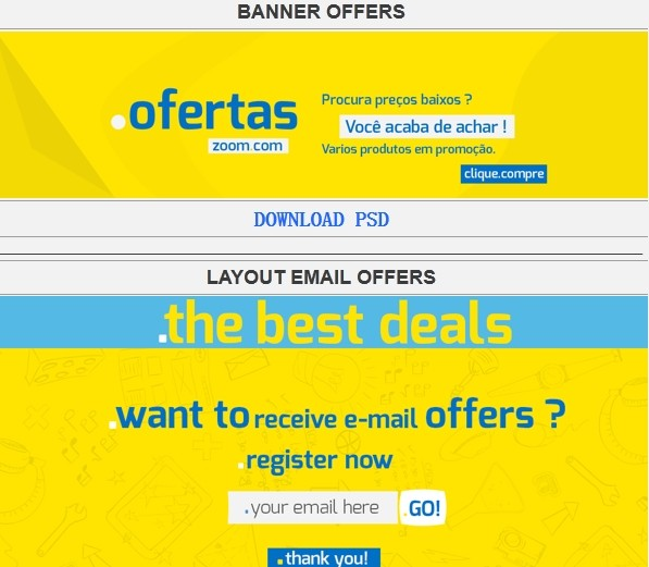 Free banners psd file