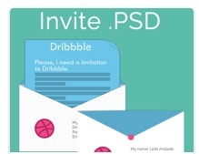 Invitation to Dribbble – Envelope PSD