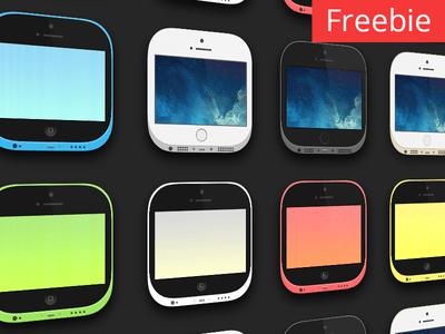 Carla iOS 7 Theme PSD – iPhone 5s & 5c