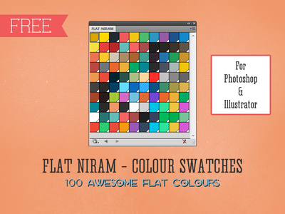 Color Swatches Library for Illustrator & Photoshop