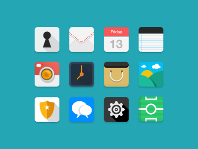 Free Flat Icons Pack PSD Download