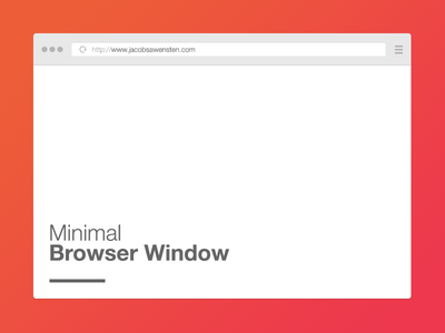 Free Minimal Browser Window PSD Template -vol 1