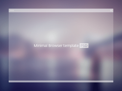 Free Minimal Browser Window PSD Template