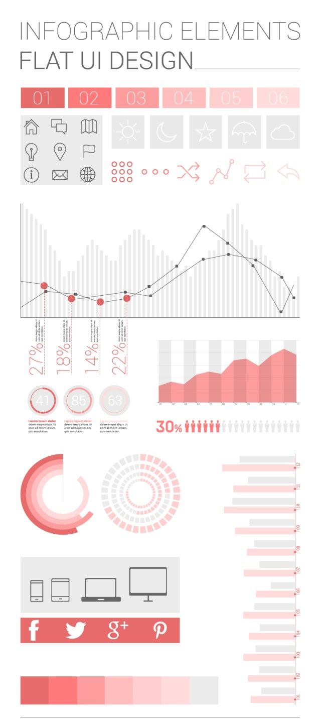 Infographic Elements Vector AI Free