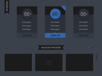 Pricing Tab & Slider Free PSD